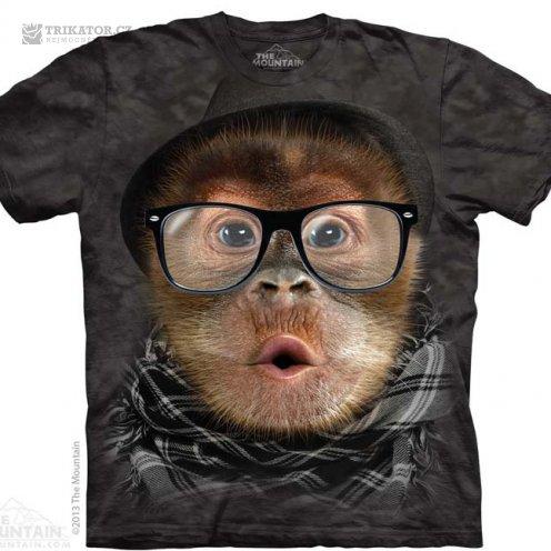 The Mountain 3d tričko orangutan hipster