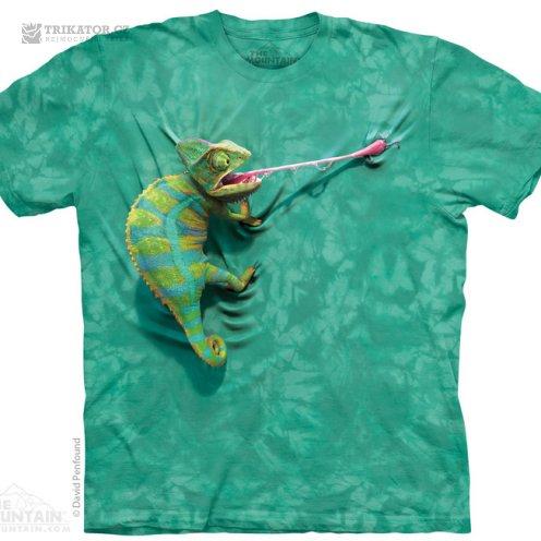 The mountain tričko 3D s chameleonem
