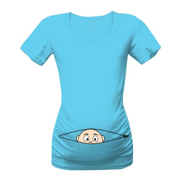těhotenské-tričko-s-potiskem-miminka-vykukuje