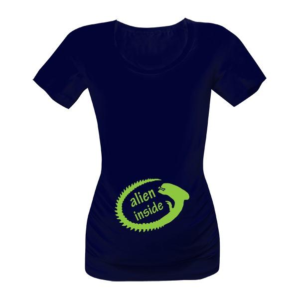 8cabe4ccfd83 Vtipné těhotenské tričko s potiskem alien inside