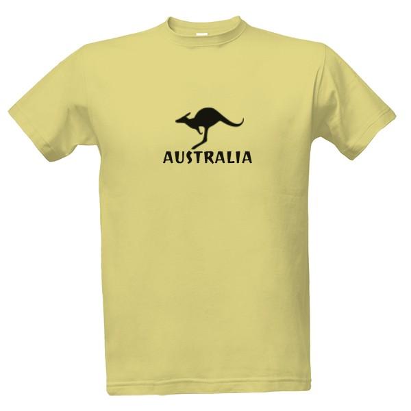 Tričko s klokanem a nápisem Austrália