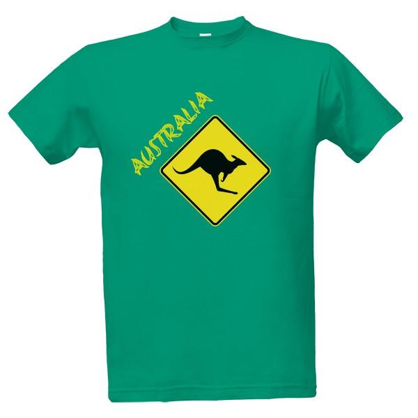 Tričko s potiskem Austrálie klokan