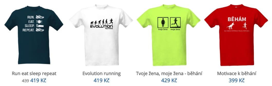 Běžecká trička s vtipným potiskem - origitnální dárek tričko na běhání 364b072d67