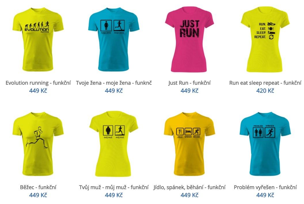 funkční trička běhani