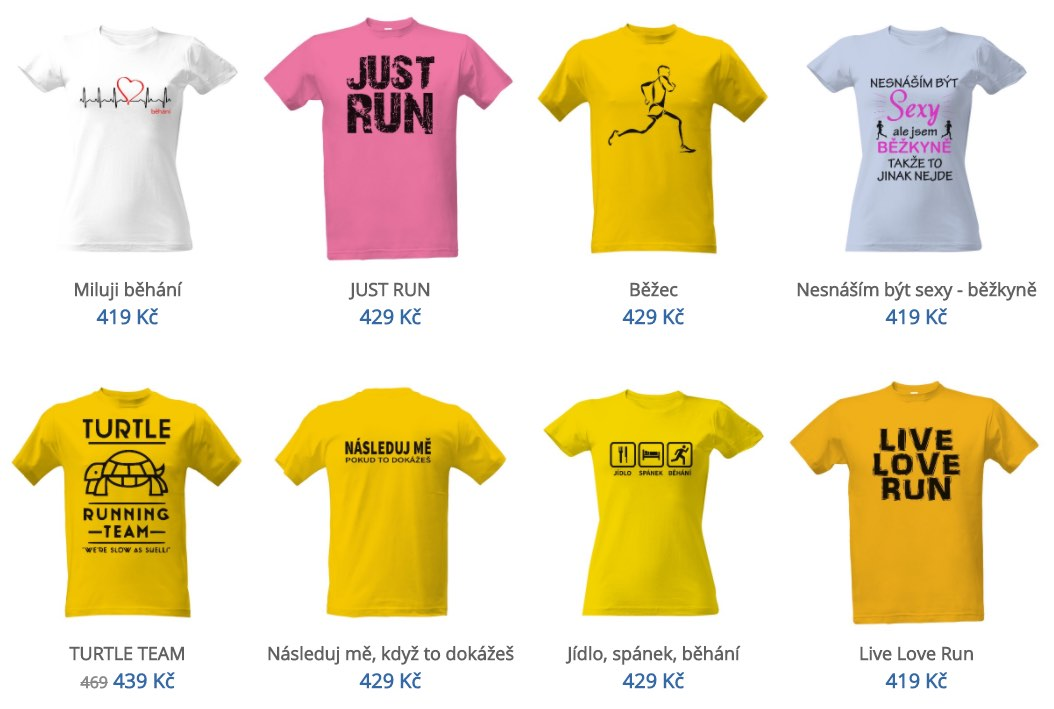 Vyberte si běžecká trička s potiskem nebo nápisem – ať už pro vlastní  potěšení nebo dárek! 27ef4677dc