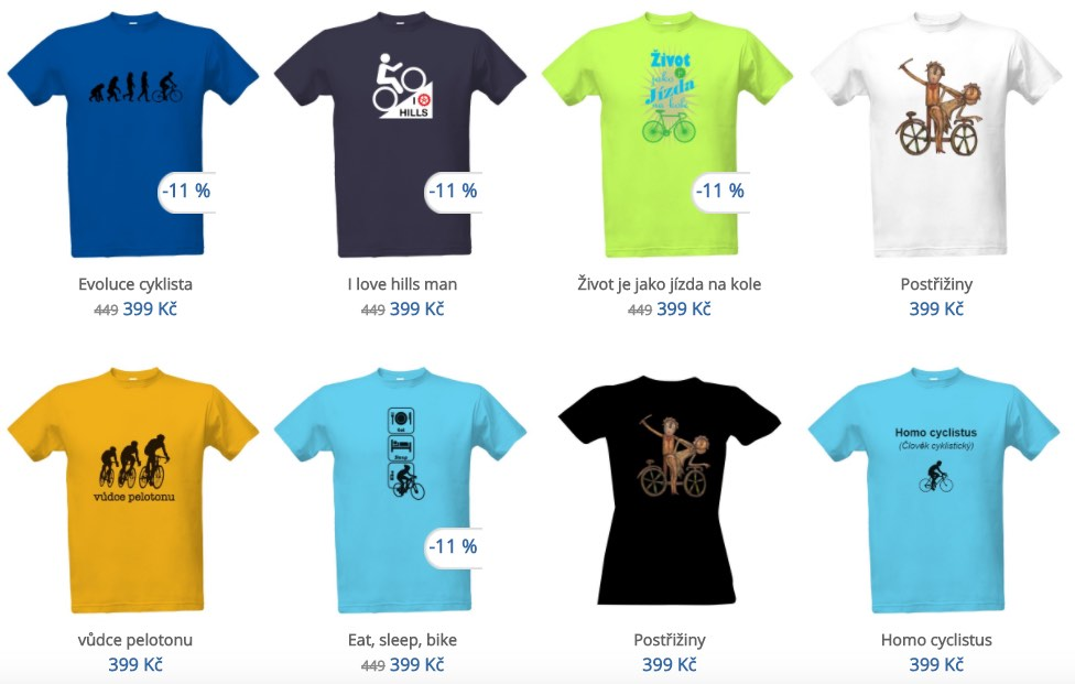 Vtipná cyklistická trička a tip na dárek pro cyklistu! Vytvořte si ... 96f7e06337