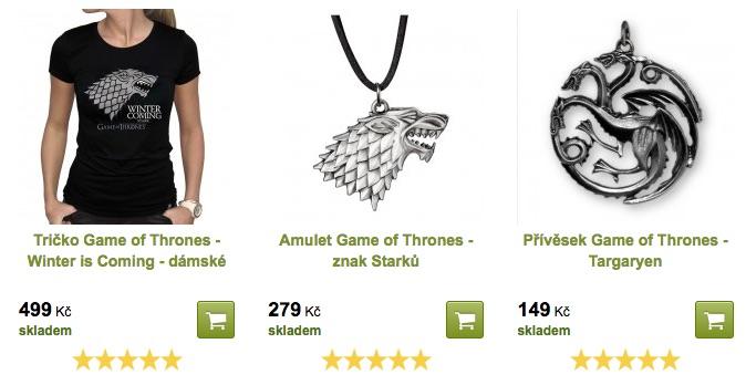 věci game of thrones