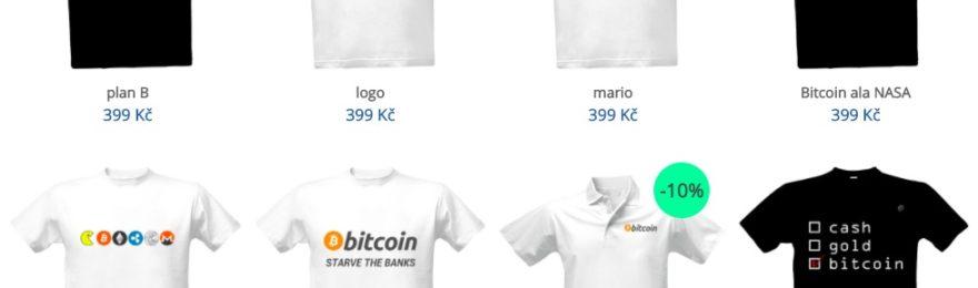 bitcoin trička kryptoměny s potiskem